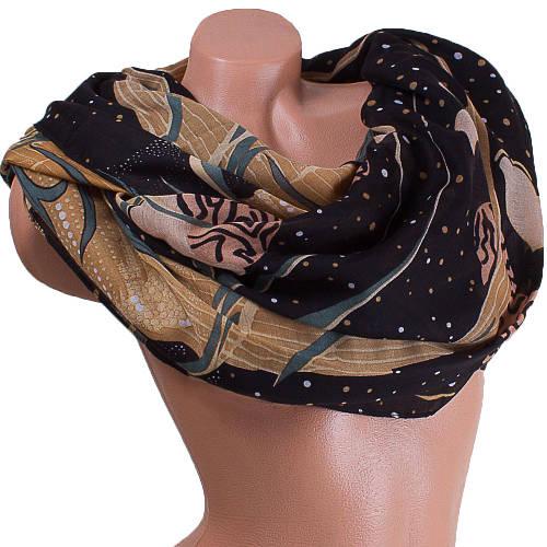 Строгий женский шарф из хлопка 185 на 88 см  ETERNO (ЭТЕРНО) ES0908-6-3 черный