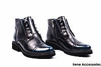 Ботинки женские кожаные Geronea (ботильоны стиляги, маленькие размера, байка )