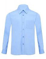Рубашка для мальчика. р.134-140 (арт.13В02 голубая)