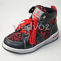 Демисезонные ботинки для мальчика красные Bessky 32р.