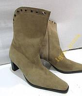 Сапожки кожаные ESS2EFF, 38 (24.5 см)