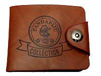 Стильный, практичный кожаный портмоне. Мужской кошелек. Купить модный кошелек. Удобное портмоне. Код: КБН0