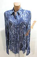 Блузка синя 42 (14), GERMANY, КАК НОВАЯ!