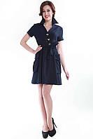 Платье синее SO-13055-BLU, фото 1