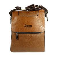 Сумка мужская, планшет 5800 Jeep светло-коричневый, 28*22*6 см