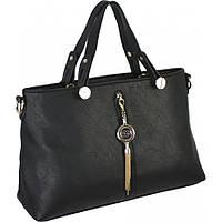 Женская кожаная сумка черного цвета недорого