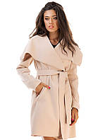 Женское пальто кашемировое на запах  р.S.M.L - 6 цвета