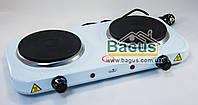 Электроплита настольная дисковая 2 кВт (плита электрическая переносная) 2-конфор. Stenson (ME-0014S)