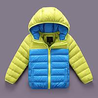 Куртка пуховик детская с капюшоном