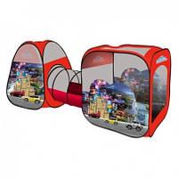 Детская палатка с тоннелем Машинки Cars