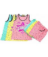 Пижама для девочки, майка и шорты, стрейч-хлопок, р.р.40-54