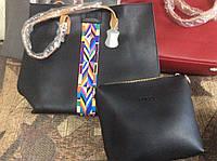 Сумка женская Гуччи бренд Gucci с орнаментом 2 в 1