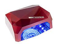 УФ LED+CCFL лампа для гель-лаков и геля 36W, с таймером 10, 30 и 60 сек., цвет бордо