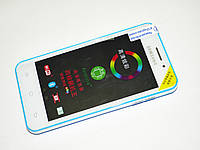 "Телефон Samsung HD888 экран 4.5"" 4 ядра, WiFi, 2 sim, Android 4.2.2, камера 5MP, Синий - Чехол в подарок!"