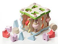 Дерев'яна іграшка Сортер квадрат. мал. Кубіка №LS-3