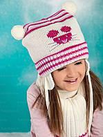 Детский комплект шапка и шарф для девочки Raster