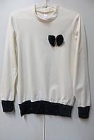 Школьная трикотажная блузка для девочки (7-9 лет)