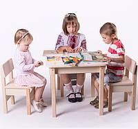 Стол-парта для рисования с зайчиками