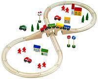 Автодорога восьмерка  Деревянные развивающие игрушки