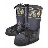 Дутики женские луноходы термо Moon Boots самая теплая обувь, Синий, 37