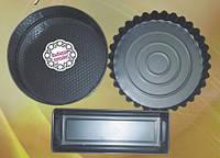 Форма для выпечки тортов круг+кекс+рулет, Набор 3шт