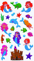 Блестящие наклейки море Деревянные развивающие игрушки