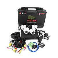 Partizan Indoor Kit 1MP 4xAHD Набор  видеонаблюдения для помещений  AHD-1 4x1.0MP CAM + 1xDVR