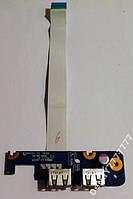 USB разъем Toshiba L455D NBWAA LS-5821P
