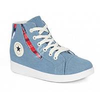 Кеды слипоны женские светлый джинс «Converse Blue», Синий, 41
