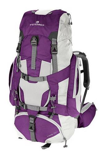 Женский экспедиционный рюкзак Ferrino Transalp 55 Lady Violet 922878 фиолетовый/белый