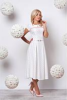 Милое платье  с принтом сердечки