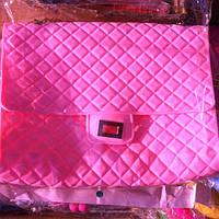 Женский клатч Шанель CHANEL силикон светло-розовый