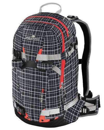 Элитный рюкзак для катания на лыжах и сноуборде Ferrino Wave 30 Tartan Black 922856 черный/серый