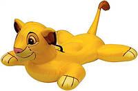 Плотик 58520 надувная игрушка для плавания «Львенок», для детей 119-84 см