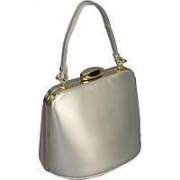 Женская маленькая лаковая сумка. Цвет серебро
