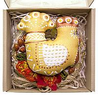Подарочный набор Золотой Петушок с веночком