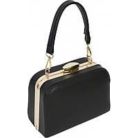 Женская сумка из кожзаменителя черного цвета