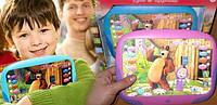 Интерактивный 3D планшет Маша и медведь, голубой