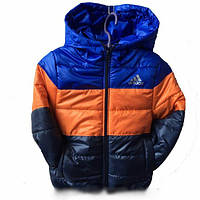 Детская куртка  Adidas от 1 года-7лет (осень/весна) синий верх