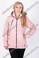 Молодежная демисезонная куртка Черри розовая