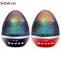 Портативная колонка  WS-1802 LED, Bluetooth, TF/USB/FM, AUX, 3,5 mm, Control Talk