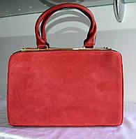 Женская сумка  GERNAS красная замша и кожзаменитель