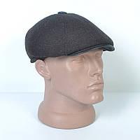 Кепка-восьмиклинка кашемировая зимняя мужская с ушами - Модель 29-422