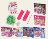 Набор для творчества G315-FZ/MH/TB/BR/AG/ 6 видов микс, плетение браслетов из резинок, в коробке