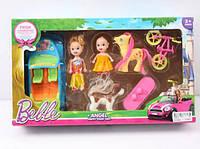 Кукла маленькая 012-1A с куколкой, машинкой, велосипедом, пони, собачкой, в кор. 37, 5*22*7см