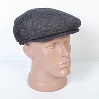 Кепка-восьмиклинка кашемировая зимняя мужская с ушами - Модель 29-430