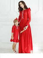 Эксклюзивный набор платье мама и дочка