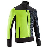 Куртка мужская для бега Kalenji ELIOPLAY салатовая