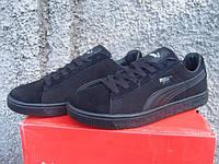 Мужские кроссовки Puma Basket черные (размеры 41-44)
