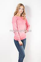 Кофта пуловер женская коралловая Кристина р.48